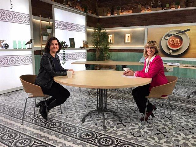 La vice-primera secretària del PSC i número 2 per Barcelona en les eleccions catalanes, Eva Granados, i la periodista Gemma Nierga