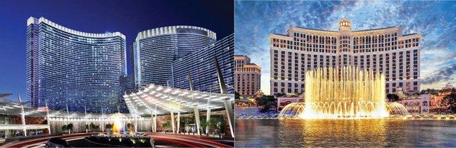 Resorts Aria y Bellagio del grupo MGM