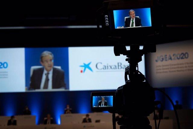 El president de CaixaBank, Jordi Gual