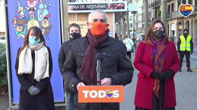 Carlos Carrizosa, candidat de Ciutadans a la presidència de la Generalitat, a la Fira de Reis
