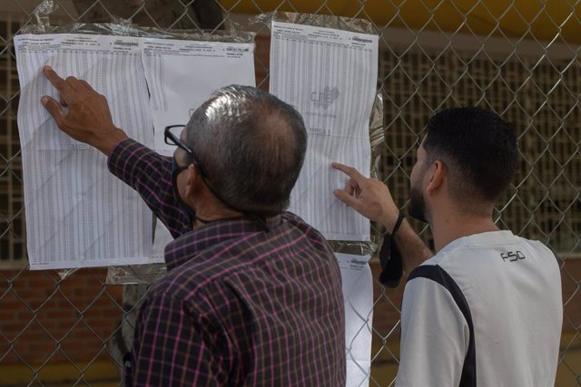 Colegio electoral en Caracas