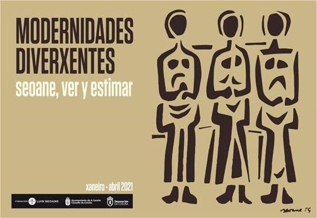 Cartel de la exposición 'Modernidades diverxentes'