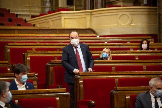 El primer secretari del PSC, Miquel Iceta, al Parlament. Catalunya (Espanya), 16 de desembre del 2020.