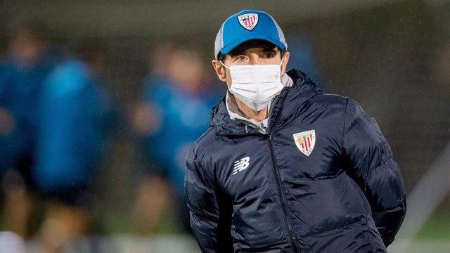 El nuevo entrenador del Athletic Club, Marcelino García Toral, en su primera sesión de entrenamiento en Lezama