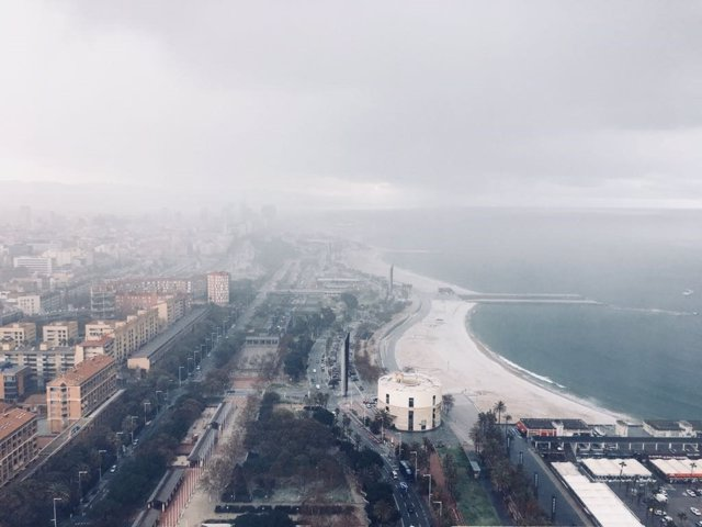 Neu a la Vila Olímpica i a la Barceloneta (Arxiu)