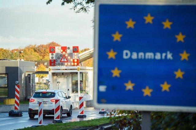Imagen de archivo de la entrada a Dinamarca en una de sus fronteras.