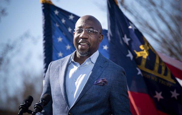 El candidato demócrata al Senado por Georgia, Raphael Warnock