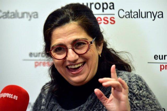La cap de llista dels comuns a Girona per a les eleccions del 14F, Rosa Lluch, en una entrevista d'Europa Press a Barcelona (Espanya) a 5 de gener del 2021.
