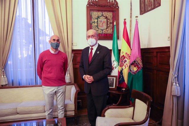 Alcalde de Málaga, Francisco de la Torre, junto a Jesús Quintana