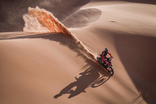 88 Barreda Bort Joan (esp), Honda, Monster Energy Honda Team 2021, Motul, Moto, Bike, action during the 3rd stage of the Dakar 2021 between Wadi Al Dawasir and Wadi Al Dawasir, in Saudi Arabia on January 5, 2021 - Photo Antonin Vincent / DPPI