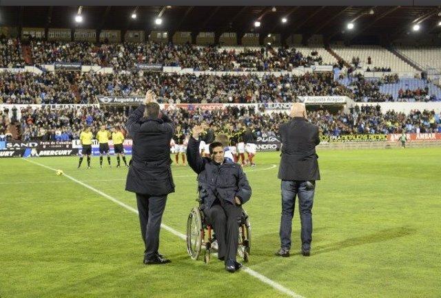 Fernando Cáceres, homenajeado por el Zaragoza