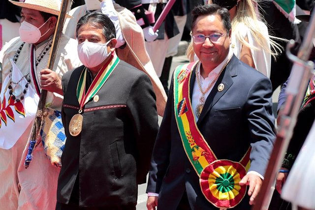Luis Arce y David Choquehuanca, presidente y vicepresidente de Bolivia