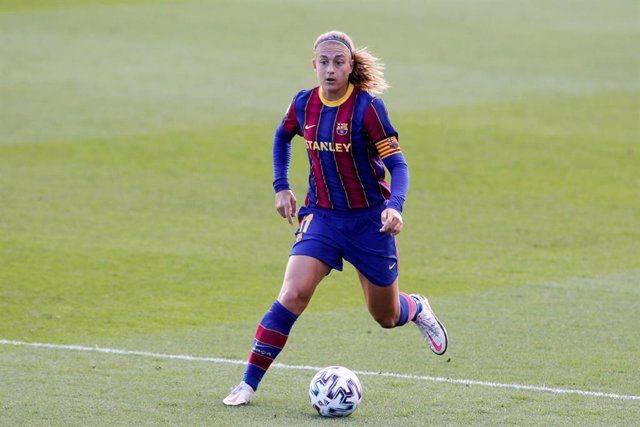 Alexia Putellas of FC Barcelona in action during the spanish women league, La Liga Ibergrola, football match played between Real Madrid Femenino and FC Barcelona at Ciudad Deportiva Real Madrid on october 04, 2020 in Valdebebas, Spain.