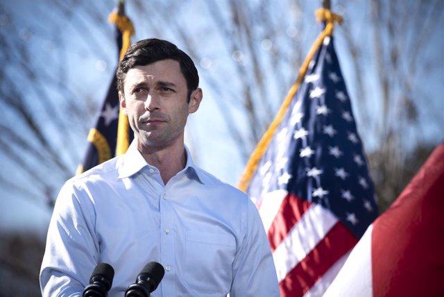 El candidato demócrata al Senado por el estado de Georgia Jon Ossoff