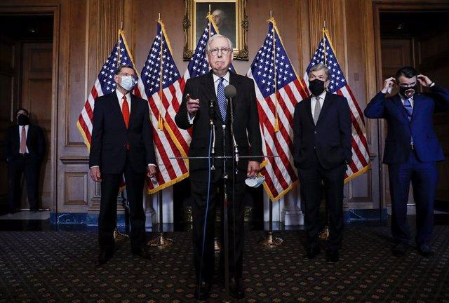 El líder del Partido Republicano en el Senado de Estados Unidos, Mitch McConnell.