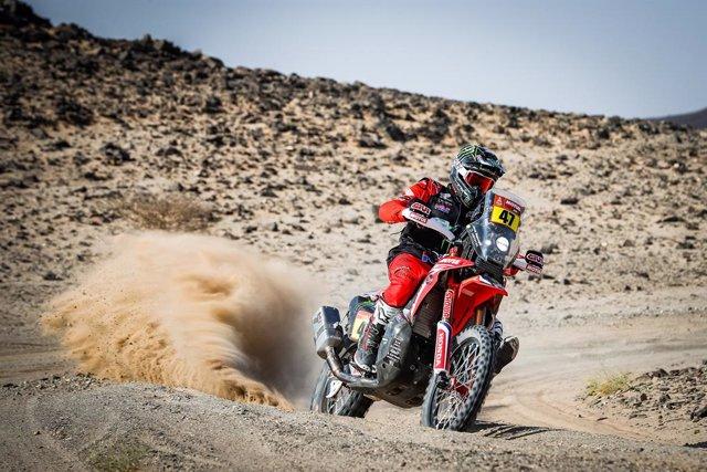 Kevin Benavides (Honda) en el Dakar
