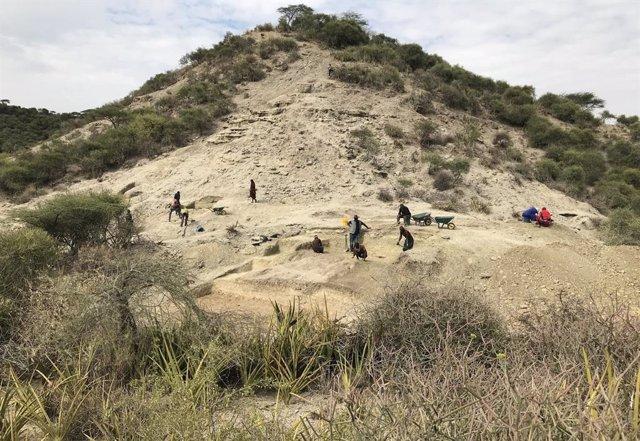 Vista de Ewass Oldupa en Olduvai, Tanzania