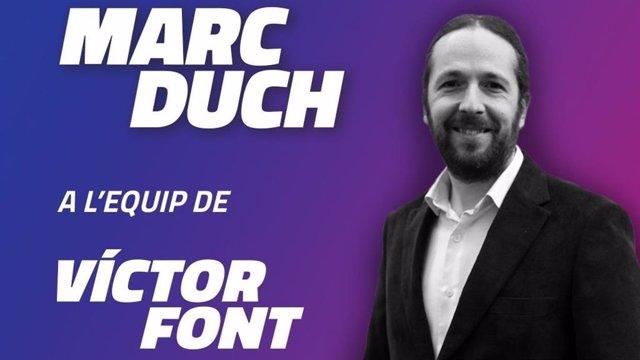 Marc Duch, de 'Manifest Blaugrana', se incorpora a la precandidatura 'Sí al Futur' de Víctor Font como miembro del área social