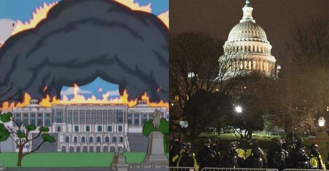 Los Simpson ya predijeron el asato al Capitolio de Estados Unidos
