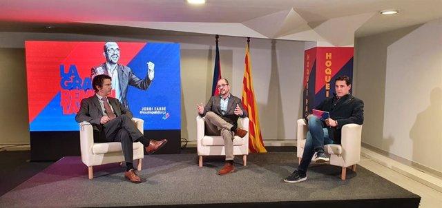 Acto de precampaña del precandidato a la presidencia del FC Barcelona Jordi Farré, líder de 'Nou Impuls FCB'