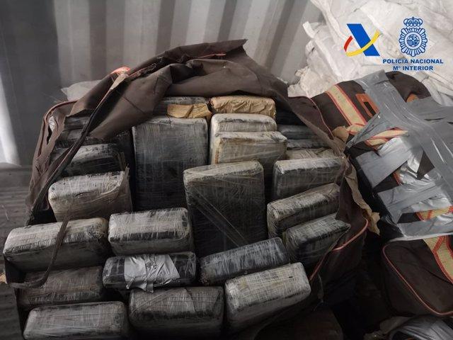 Incautados en el Puerto de Valencia 426 kilos de cocaína oculta en un contenedor procedente de Costa Rica