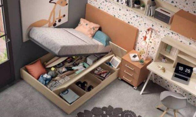 Armarios y camas con almacenaje inteligente
