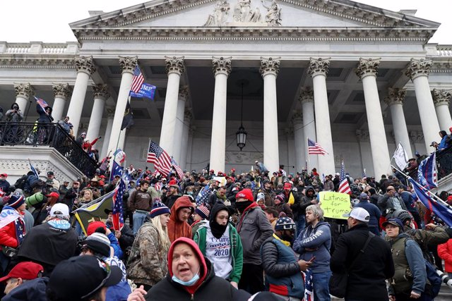 Protesta junto al Capitolio de Estados Unidos