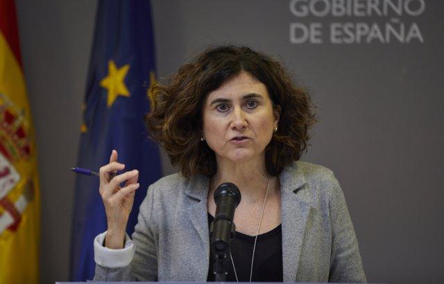 La directora adjunta del Centro de Coordinación de Alertas y Emergencias Sanitarias (CCAES), María José Sierra, ofrece una rueda de prensa para informar de la evolución de la COVID-19 en el Ministerio de Sanidad, en Madrid (España) a 7 de enero de 2020.