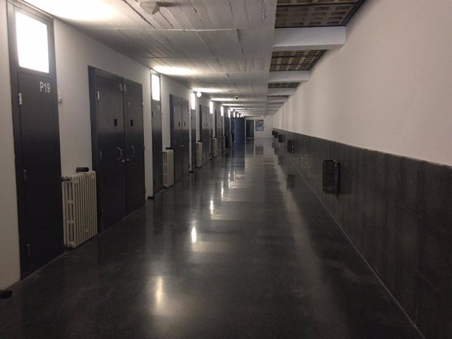 Interior de la presó de Mas d'Enric, al Catllar (Tarragona). Presó, presó, centre penitenciari.