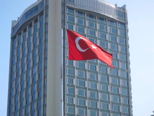 Imagen de archivo de una bandera de Turquía