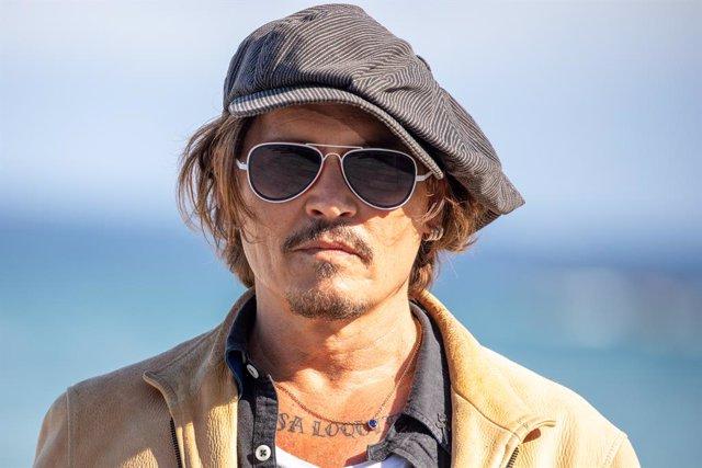 Johnny Depp durante la presentación de la película 'Crock of Gold A few rounds with Shane Macgowan' en el Festival de San Sebastián, a 20 de septiembre de 2020.