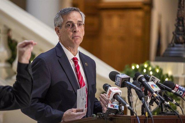 El secretario de Estado de Georgia, el republicano Brad Raffensperger.