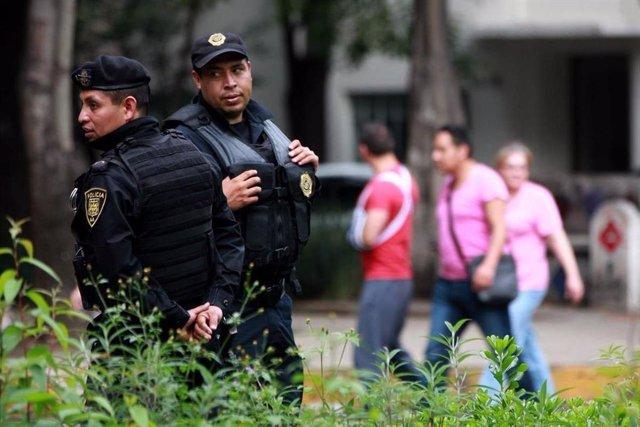 Policía en Ciudad de México