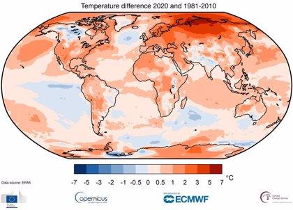 2020 empata con 2016 como año más cálido registrado en el mundo