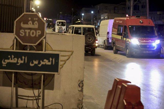 Operación de la Policía de Túnez en la capital