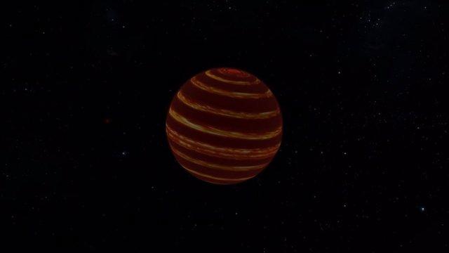 Los astrónomos descubrieron que la atmósfera de la cercana enana marrón Luhman 16B está dominada por vientos globales de alta velocidad similares al sistema de corriente en chorro de la Tierra.