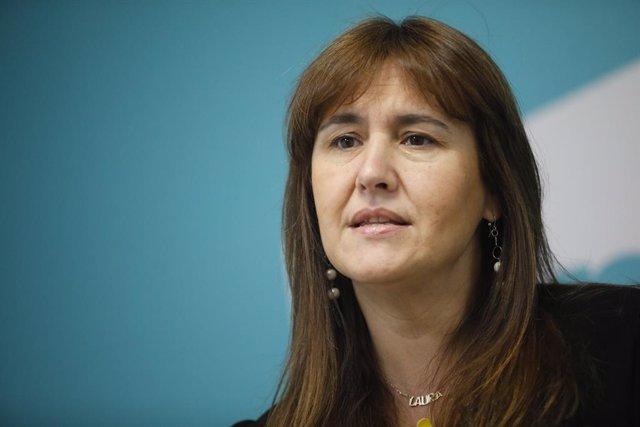 La candidata a la presidència de la Generalitat de JxCat, Laura Borràs.