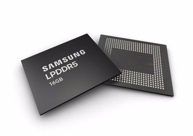 Memorias RAM LPDD55 de 16 GB de Samsung