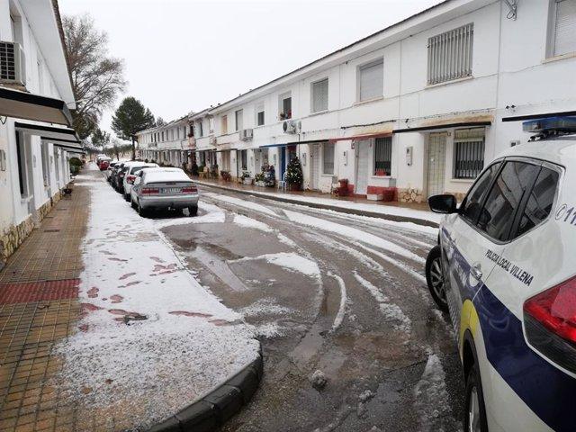 Nieve en la localidad de Villena (Alicante)