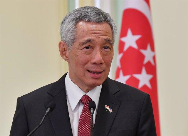 Lee Hsien Loong, primer ministro de Singapur, en una rueda de prensa en Malasia