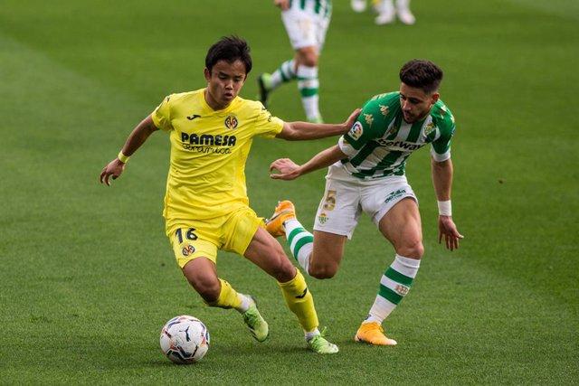 Kubo jugando con el Villarreal