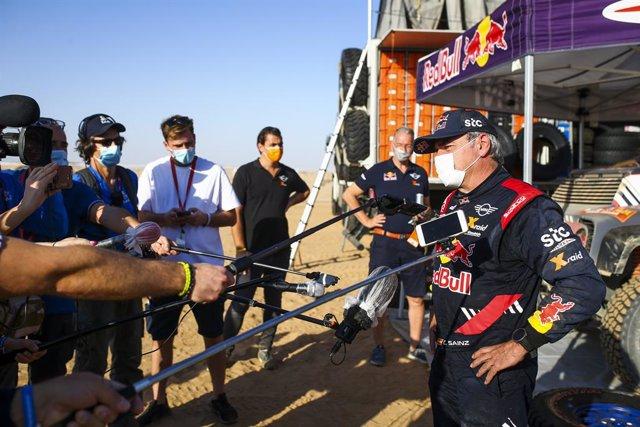 Sainz Carlos (esp), Mini, X-Raid Mini JCW Team, Auto, portrait during the 1st stage of the Dakar 2021 between Jeddah and Bisha, in Saudi Arabia on January 3, 2021 - Photo Julien Delfosse / DPPI