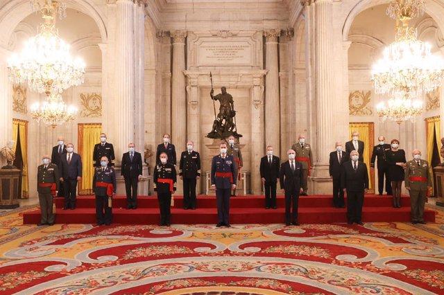 El Rey Felipe VI recibe en audiencia a los miembros de Eurodefense-España con motivo de su XXV aniversario