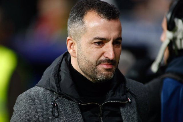 Diego Martinez, head coach of Granada, looks on during the Spanish League, La Liga, football match played between Atletico de Madrid and Granada CF at Wanda Metropolitano Stadium on February 08, 2020, in Madrid, Spain.