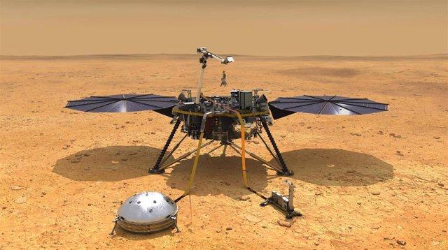 Módulo de investigación Insight en Marte