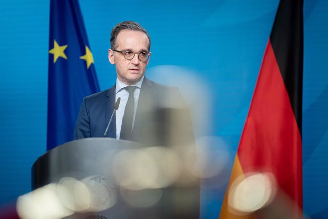 21 December 2020, Berlin: German Foreign Minister Heiko Maas speaks at a press conference on the informal virtual meeting of the foreign ministers of the  member states of the Joint Commission on Iran's nuclear program (JCPOA). Photo: Kay Nietfeld/dpa