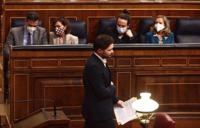 Gabriel Rufián al Congrés dels Diputats.