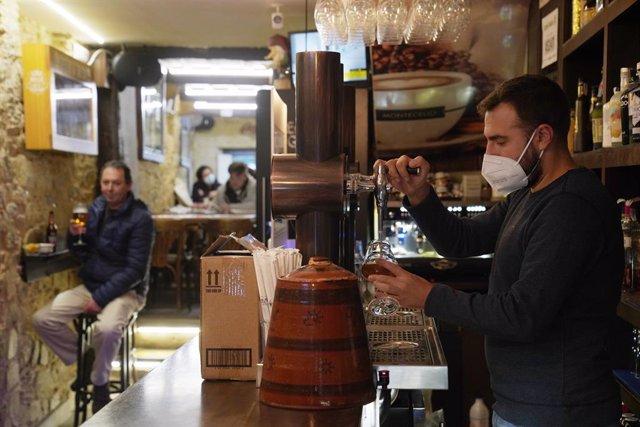 Interior de un bar en Santiago de Compostela