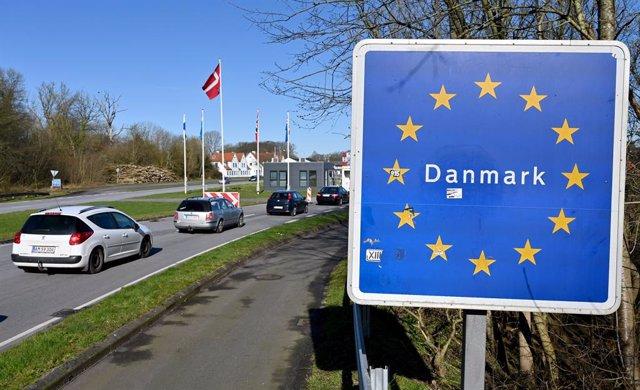 Entrada a Dinamarca desde la frontera con Alemania, desde la localidad germana de Flensburgo