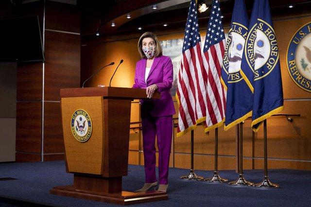 La presidenta de la Cámara de Representantes de EEUU, Nancy Pelosi.